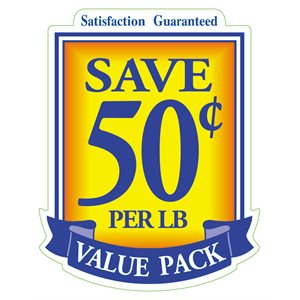 VALUE PACK SAVE 50 CENTS PER LB