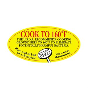 COOK TO 160 DEGREES FAHRENHEIT