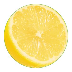 "REAL LEMON OVAL 2""CIRCLE SEMI"
