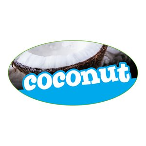 COCONUT FLAVOR LABEL