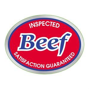 INSPECTED BEEF FOIL LABEL